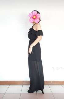 H&M black evening gown