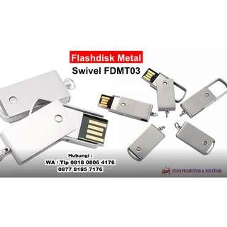 Jual Souvenir Flashdisk Metal Swivel FDMT03