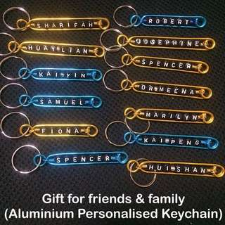 Aluminium Personalised Keychains / Dangles (Wirecraft fob) [customised gifts Children's Day Teacher's Valentine Raya Christmas  handmade uncle.anthony uncle anthony uac ]  FOR MORE PICS & DETAILS, 👉Http://carousell.com/p/101405144
