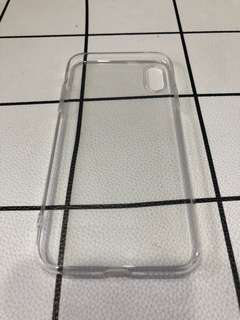 iPhone X Rubber Transparent Casing