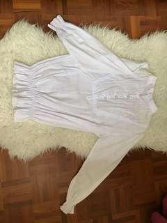 Bohemian white top