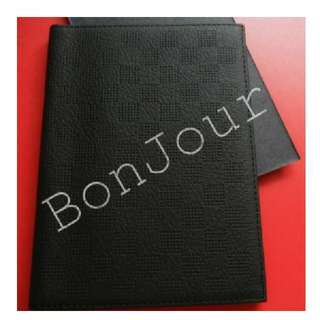 Textured PVC Leather Passports Holders Casings Sellzabo Black Colour