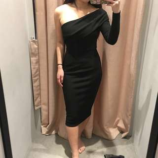 Sheike Black Fortune Dress