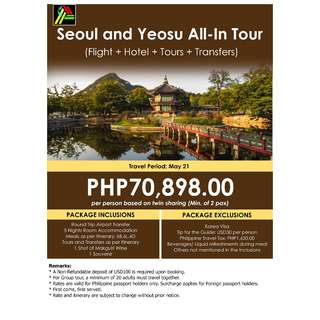 Seoul and Yeosu All-In Tour