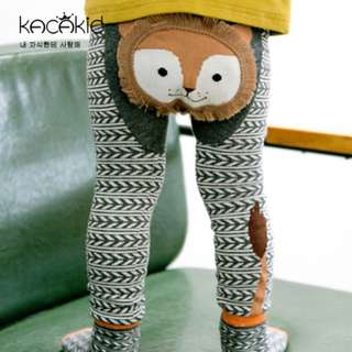 🌟INSTOCK🌟 2pc Set Brown Lion Aztec Print Kids Newborn Baby Legging Pants and socks for boys and girls