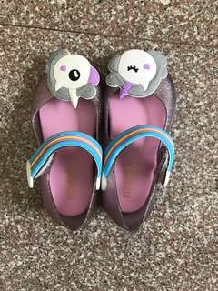 Free Normal Mail Unicorn Girl's Jelly Shoes