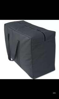 Black huge large storage bag Moving house storeroom medium size travel cargo
