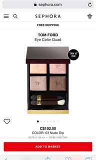 Tom Ford eyeshadow - Nude dip
