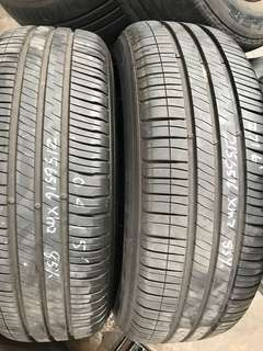 216/65/16 michelin xm2 85% tread 2pc available $55pc