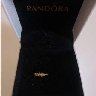 gold leaf earring