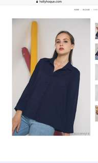 Hollyhoque Kami Pocket Shirt Navy