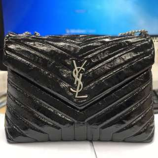 YSL medium loulou bag with chain in black