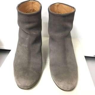 MM6 grey booties boots