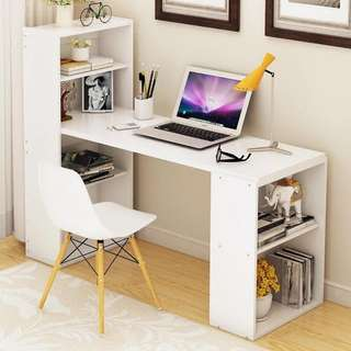 Office Desk w/ Shelf OD-06B White Color