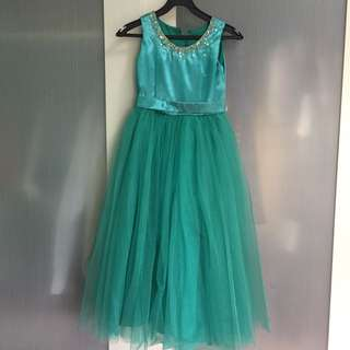 Kid's Gown Teal 6-7 yrs old
