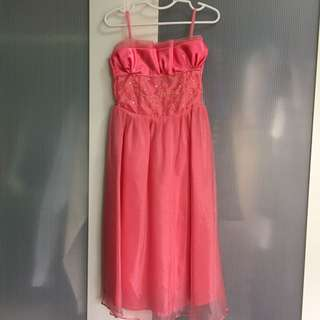 Kid's Gown Peach 5-6yrs old