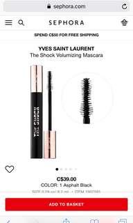 YSL The Shock mascara