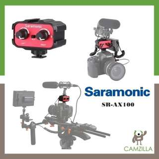 Saramonic SR-AX100 is a 2-channel audio adapter ideal