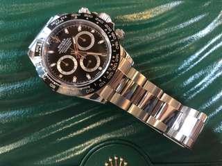 二手 Rolex 116500LN  陶瓷圈黑面Daytona 行貨