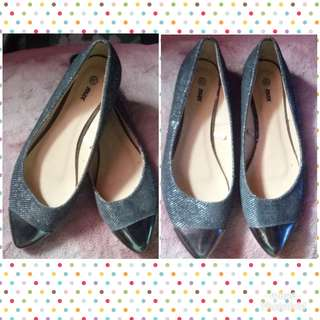Silver casual shoes