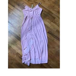 ASOS Maternity WEDDING Cami Frill Midi Dress UK 8