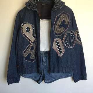 SALE! Patched Denim jacket