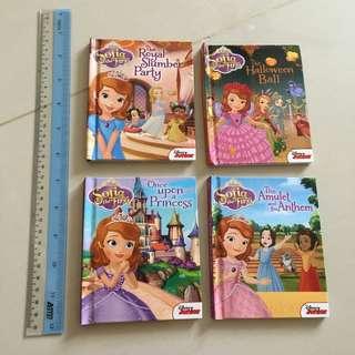 $5 for 4 princess Sofia pocket story Books