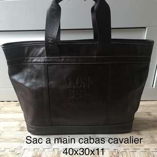 Longchamp Cabas Cavalier Dark Brown