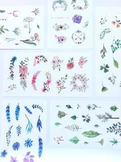 Midsummer's flowers stickers