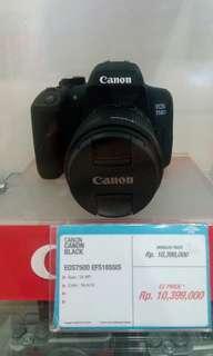 Kredit Kamera EOS750D PROMO BUNGA 0% Cukup bayar 199rb