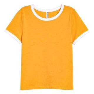 Mustard Yellow Short T-shirt