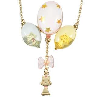 JAPAN DISNEYSTORE, JAPAN IMPORTED:  Necklace Series - Disney Classics Circus Series Marie Cat Balloon Charm necklace