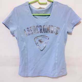 Abercrombie & Fitch Baby Blue Tee Shirt