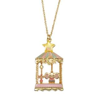JAPAN DISNEYSTORE, JAPAN IMPORTED: Necklace Series - Disney Classics Circus Series Dumbo Carousel Charm