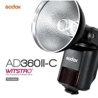 GODOX AD360II-C WITSRO TTL Powerful & Portable Flash