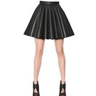 Charlotte Russe Faux Leather Pleated Skirt