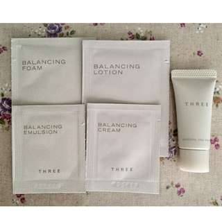 Three Purifying Clay Mask 8g + Sachets of Balancing Foam / Lotion / Emulsion / Cream