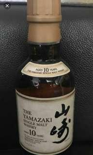 最後一支,绝版停產,山崎10年威士忌180mI(日版)。