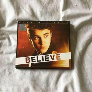 JUSTIN BIEBER BELIEVE ALBUM