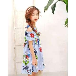 MME3461 Floral Cold Shoulder Dress (Mum's Size Avail)