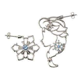 JAPAN DISNEYSTORE, JAPAN IMPORTED: Earring series -  Simple Jewelry series Frozen Elsa and Snowflake earring