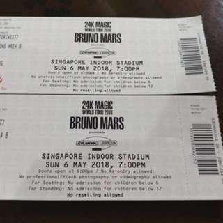 Bruno mars standing pen B (1 ticket left) - May 6th 2018