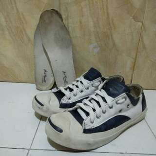 Converse full leather blue white