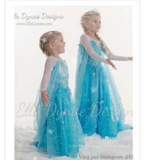 Disney SnowQueen Elsa Anna Frozen dress