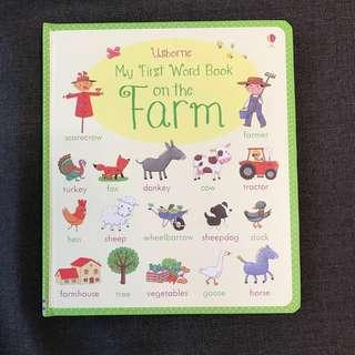 Usborne My First Word Book on the Farm