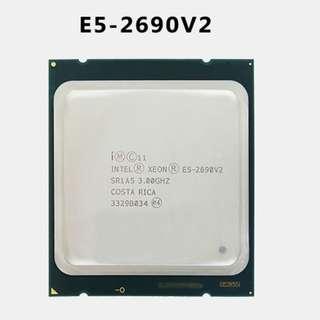 (二手)90%NEW Intel® Xeon E5-2690 v2 CPU