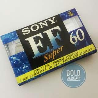 SONY EF-60 Music Audio Cassette for Recording