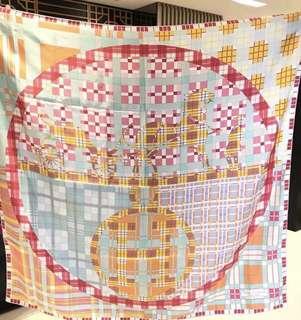 Hermes140x140厘米全絲大方巾