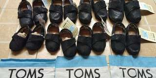 Toms black glittery