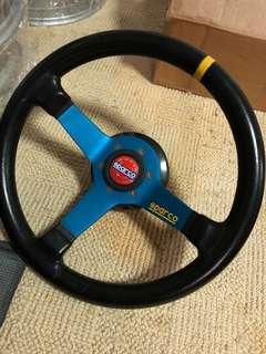 Sparco Genuine Steering Wheel W/HKB boss kit.